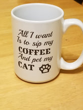 Load image into Gallery viewer, Cat Sip My Coffee or Tea`Mug