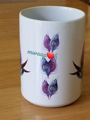 Purple Peacock Mug
