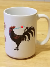 Load image into Gallery viewer, Black Rooster Mug
