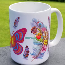 Load image into Gallery viewer, Colorful Butterflies Mug