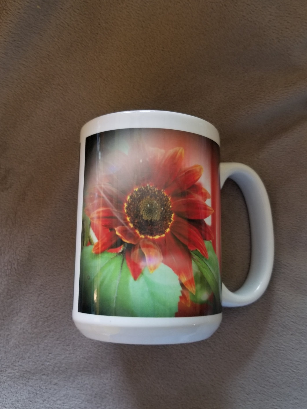 Red Sunflower Mug