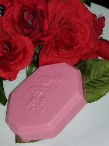 "Goats Milk Soap w/Rose Fragrance ""Roses"""