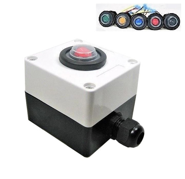 Sump Pump Manual Override  Switch Double Sealed Waterproof & Junction Box 12 Volt #SWR1b/encl system #