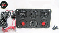 Two 12V Battery Bank Voltmeter Monitors Charge State & Alarms When to Recharge - 12-vtechnology