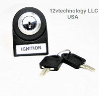 Labeled Key Switch SPDT Stainless Steel Panel  Mount 12 Volt Ignition Accessories. - 12-vtechnology