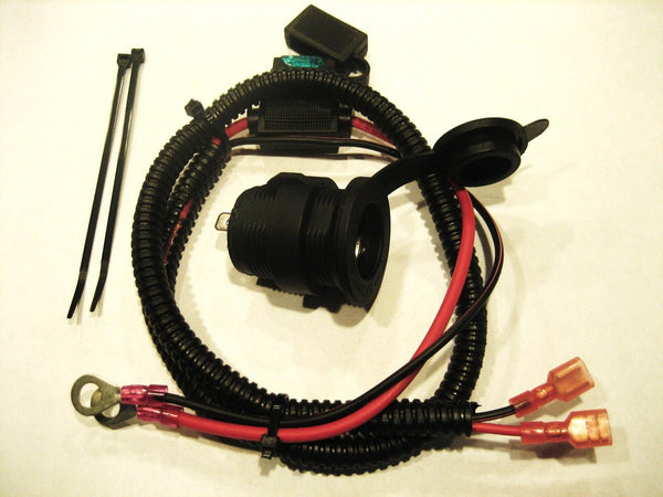 Cigarette lighter socket, panel mount outlet 12 Volt Outlet + fuse+ cable - 12-vtechnology