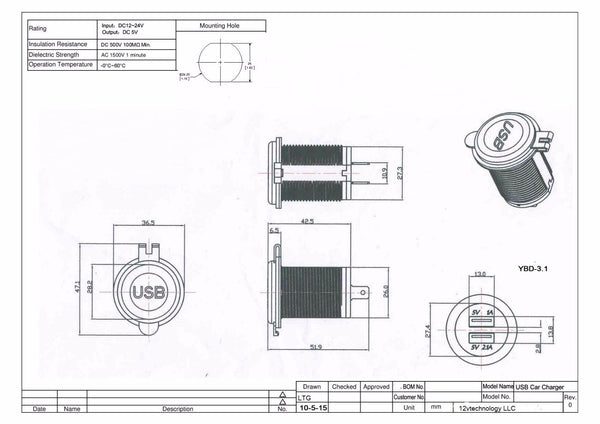 marine cigarette lighter schematic wiring diagram new dual usb charger and socket panel mount marine 12 volt power  dual usb charger and socket panel mount
