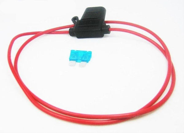 Inline Fuse Holder ATC/ATO  Motorcycle Waterproof 16GA Marine Grade 30 Inch Loop - 12-vtechnology