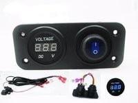 12V Battery Bank Voltmeter Monitor RV Marine House Starting Wired + Switch Blue - 12-vtechnology