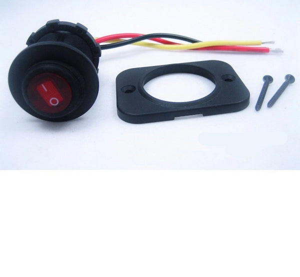Waterproof Round Rocker Toggle Switch Panel Socket SPST Marine ATV On-Off 12 Volt #swr11 - 12-vtechnology