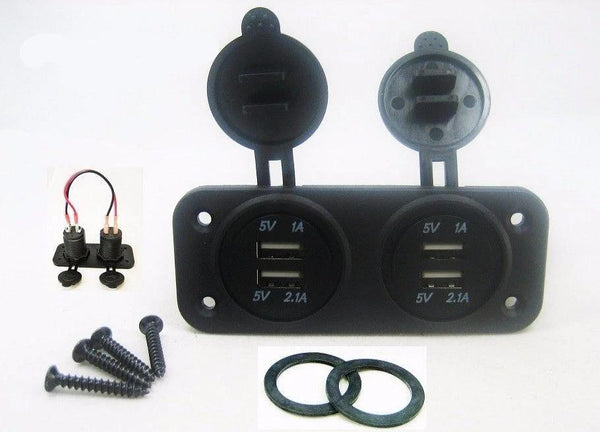Chaging Station 3.1A USB Charger Socket Wall Panel Mount Marine 12V Power Outlet - 12-vtechnology