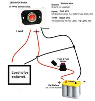 Waterproof LED Rocker Toggle Switch SPST Marine 12v Panel Round Lighted Boat Red #swr1