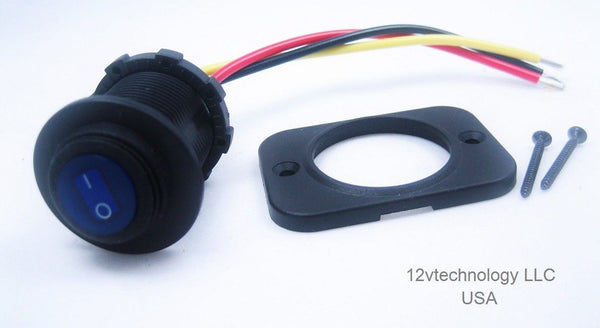 Waterproof Round Rocker Toggle Switch Panel Socket SPST Marine truck On-Off 12V #swb11 - 12-vtechnology