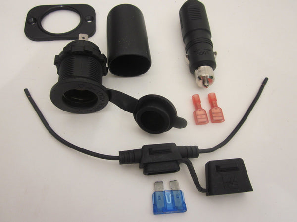 Accessory lighter socket waterproof outlet w boot /& L-mount12V Marine Motorcycle