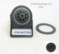 New Labeled Tonal Monitor Alarm Low Battery Failure 12V Charge Socket Marine - 12-vtechnology