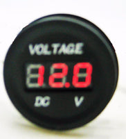 DC 12-24V MOTORCYCLE LED DIGITAL DISPLAY VOLTMETER VOLTAGE METER ROUND PANEL - 12-vtechnology