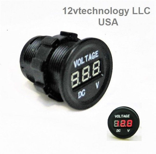 Three Battery Bank Monitor 12V Voltmeter RV Marine Boat House ... on boat key, boat battery, boat hour meter, boat transformer, boat vacuum, boat cd player, boat fuel gauge,