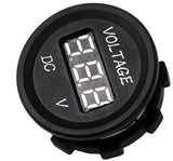Easy Installation USB Charger + Voltmeter +12 V Socket Panel Marine Outlet Jack - 12-vtechnology