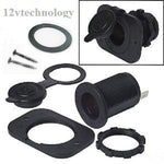 Heavy Duty Power Locking Waterproof Motorcycle Accessory Plug Socket 12V Marine - 12-vtechnology