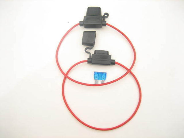 2X In-line inline Fuse Holder ATC/ ATO Automotive Waterproof 16GA Marine Grade - 12-vtechnology