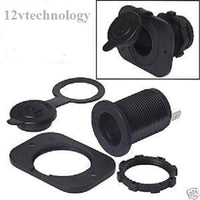 Lighter Accessory Marine Grade Waterproof Socket & Locking Plug,12 Volt USA - 12-vtechnology