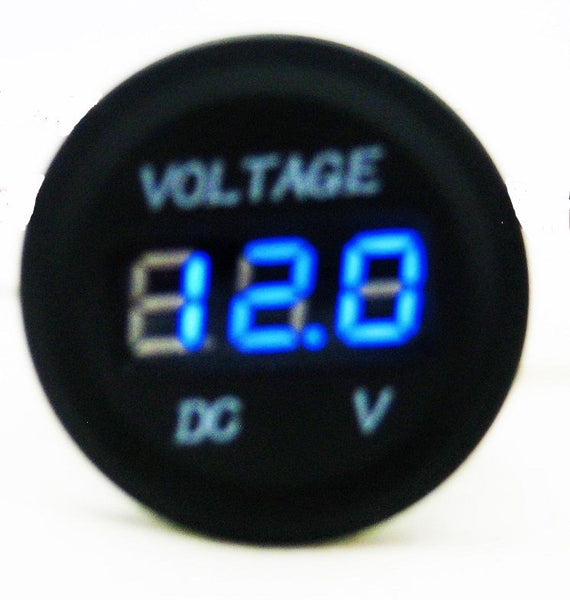 12v Led Waterproof Socket Power Outlet Volt Meter Panel Mount Marine Voltmete Tools