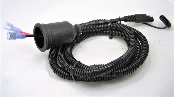"Fits Battery Tender SAE Wires Plug Socket 12 Volt Adapter Harness 60"" Motorcycle - 12-vtechnology"