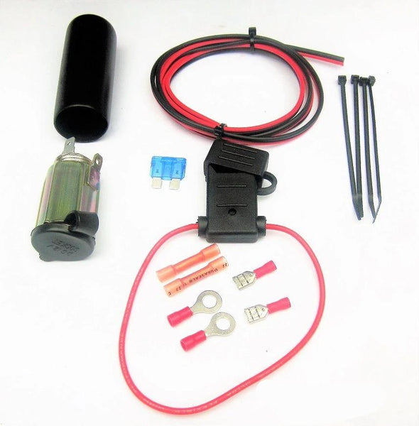 Accessory Cigarette Lighter Socket Outlet 12 Volt Motorcycle w/ Wire on