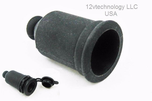 Rubber Waterproof Straight Boot For 12V Plug Socket / Harness -Protect Terminals - 12-vtechnology