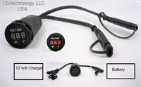 Voltmeter Fits Battery Tender Chargers Monitors Voltage State Adapter SAE Cable - 12-vtechnology