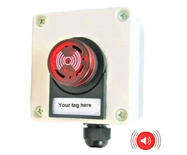 Bilge Engine Warning Marine Alarm Flashing LEDs 80 db Waterproof Bulkhead 12V #CAL1/Encl2/LBL