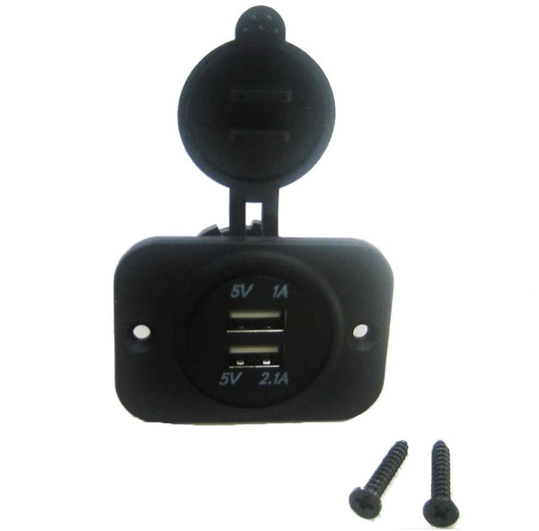Dual USB Charger Power Socket Outlet Plug 12 Volt Panel Mount Boat Truck Auto ybd-T