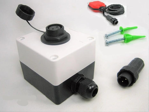 Sump Pump Float Switch Waterproof Junction Box Two 2 Pin Wire Connector 12V Plug Socket - 12-vtechnology