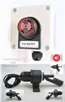 Bilge Float Switch + Alarm Flashing LEDs 80 db Waterproof Case 12V- Side Mount #CAL1/Encl2/LBL/SWFLT1
