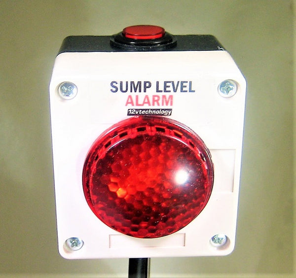 Ultra Loud 125 db Sump Pump Siren Alarm Flashing LEDs w/ Mute Well Overflow Sewage #smpa3