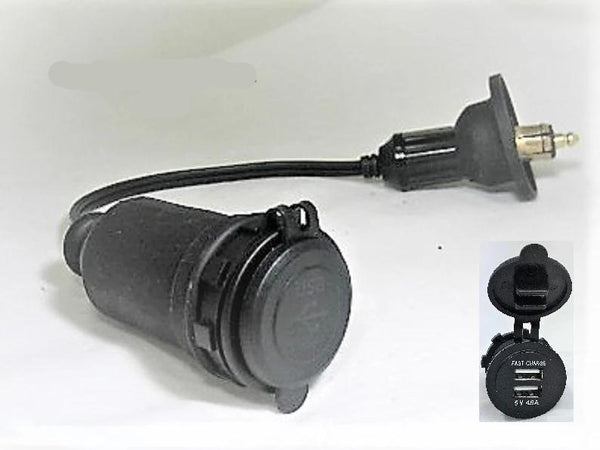 Motorcycle Dual 4.8 Amp USB Charger Hella BMW Powerlet Plug Adapter Socket 12V #HPA10UD-C