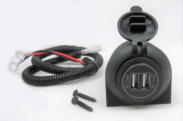 Over Under Dashboard Heavy High Power True 4.8A Dual USB Charger Socket Plug 12V - 12-vtechnology