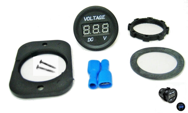 Large Body 12 /24 DC Blue Voltmeter Digital, Chargers Outlet Socket Motorcycle