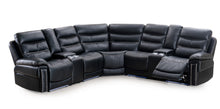 Load image into Gallery viewer, 30850 LED Power Sectional Black Color With Studs - Infiniteimports