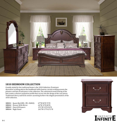 Solid Wood Bedroom Set - Infinite imports
