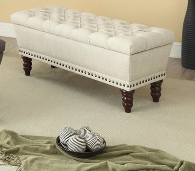 Connie Tufted Storage Upholstered Ottoman - Infiniteimports