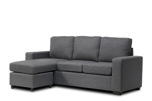 Mini Sectional Fabric Grey