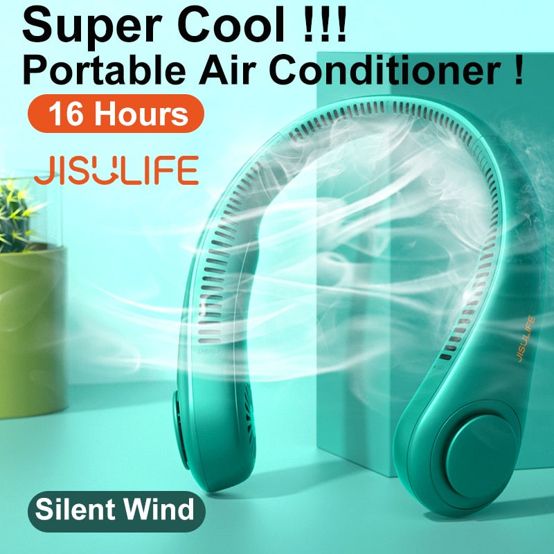 JISULIFE Portable Bladeless Neck Fan