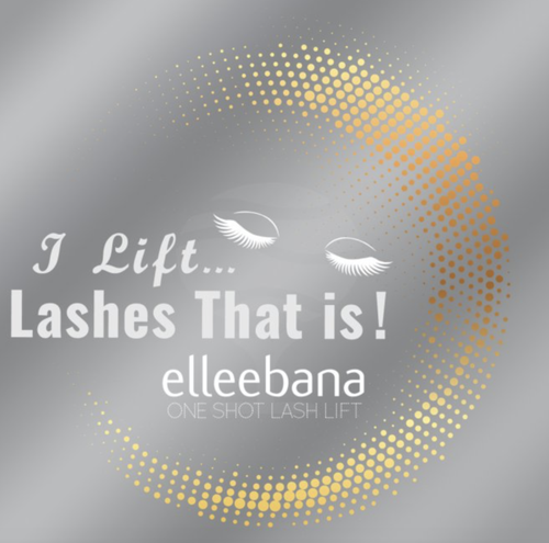 I Lift Lashes that is! Elleebana window decal
