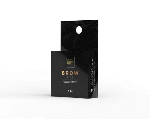 Black Charcoal string for brow mapping for any beauty professional, esthetician, aesthetician, brow artist or  cosmetologist for any brow wax, brow threading, brow sugaring, brow tinting, microblading or brow henna.