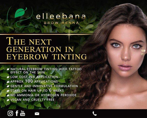 Elleebana Brow Henna trainers training course - full kit, training manual, ongoing support, ability to train students, certificate, certification to teach.