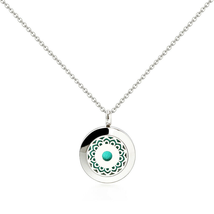 Stainless steel petite (20 mm) aromatherapy necklace