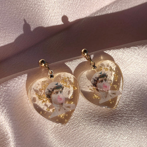David + Bubblegum Resin Earrings