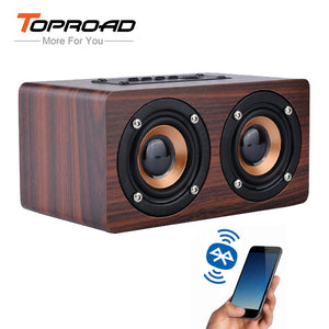 TOPROAD Wooden Wireless Bluetooth Speaker