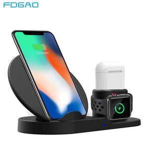 FDGAO 3 In 1 Fast Charging Qi Wireless Charger